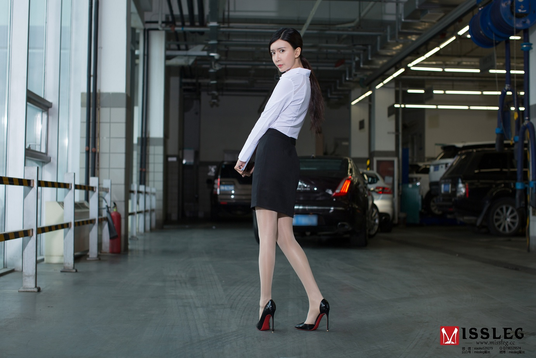 [MISSLEG蜜丝] 体验版V005-赵智妍 肉丝性感收费员[27P/97M]