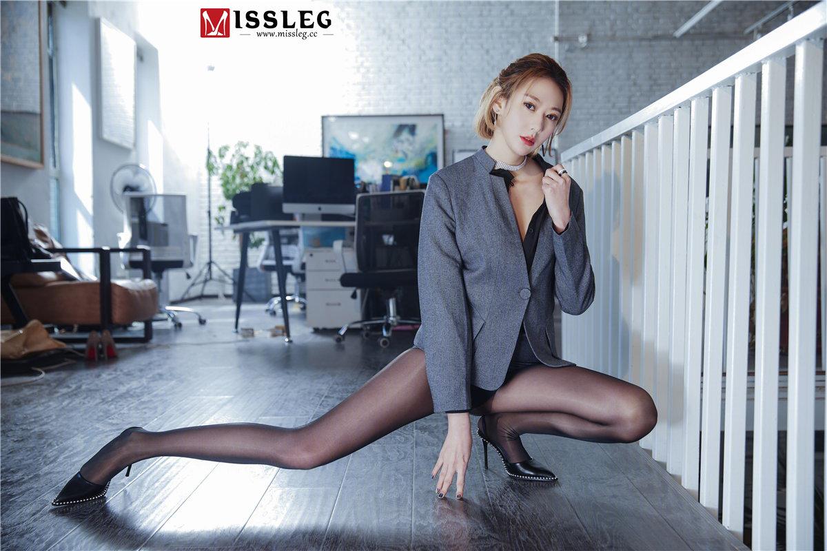 [MISSLEG蜜丝] 钻石室外版  2018.04.20 V014 付艺轩 《OL腿腿腿》[62P393MB]