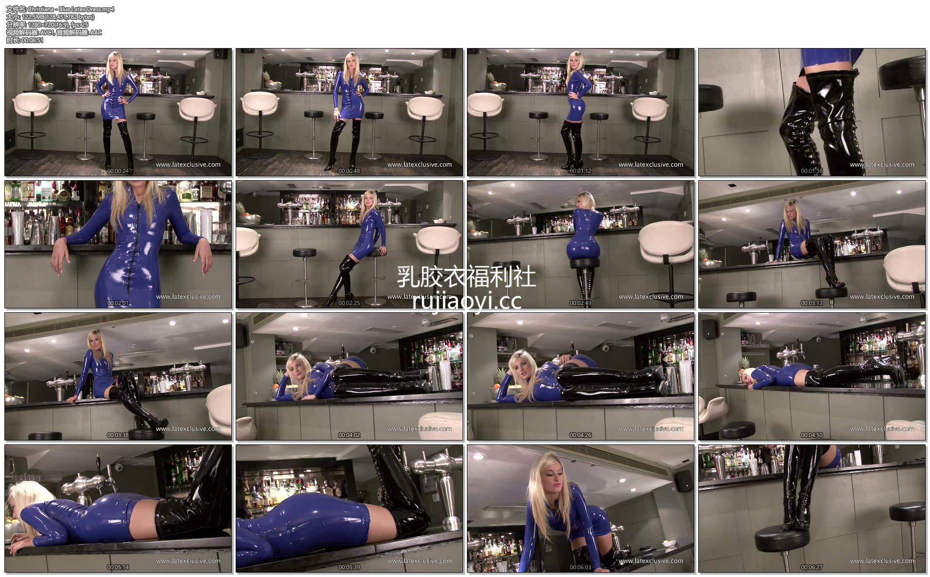 [永V专享-独家精品乳胶衣视频] 吧台乳胶短裙妩媚诱惑-720p高清视频 [1V/122M]