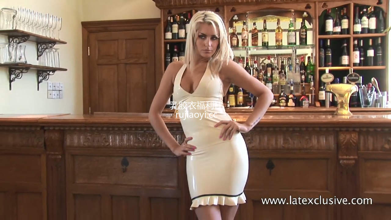 [永V专享-独家精品乳胶衣视频] 白色紧身翘臀乳胶裙诱惑姿势-720p高清视频 [1V/61M]