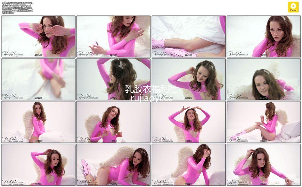 [永V专享-独家精品乳胶衣视频] 粉红色乳胶高叉衣泳衣诱惑让人热血沸腾-1080P高清视频 [1V/248M]