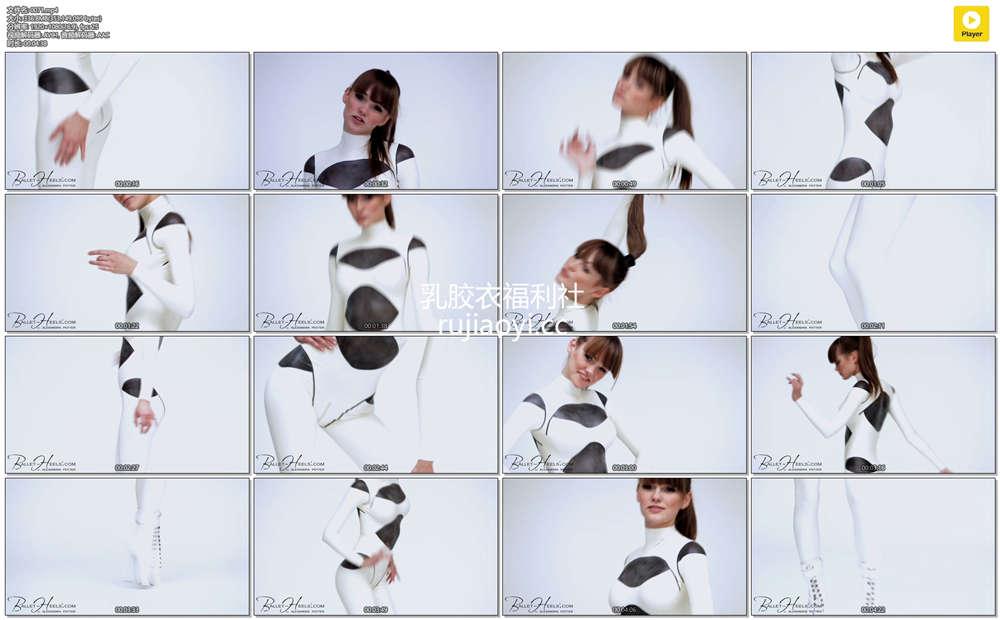 [永V专享-独家精品乳胶衣视频] 小姐姐全白紧身衣性感撩人无形(二)-1080P高清视频 [1V/336M]
