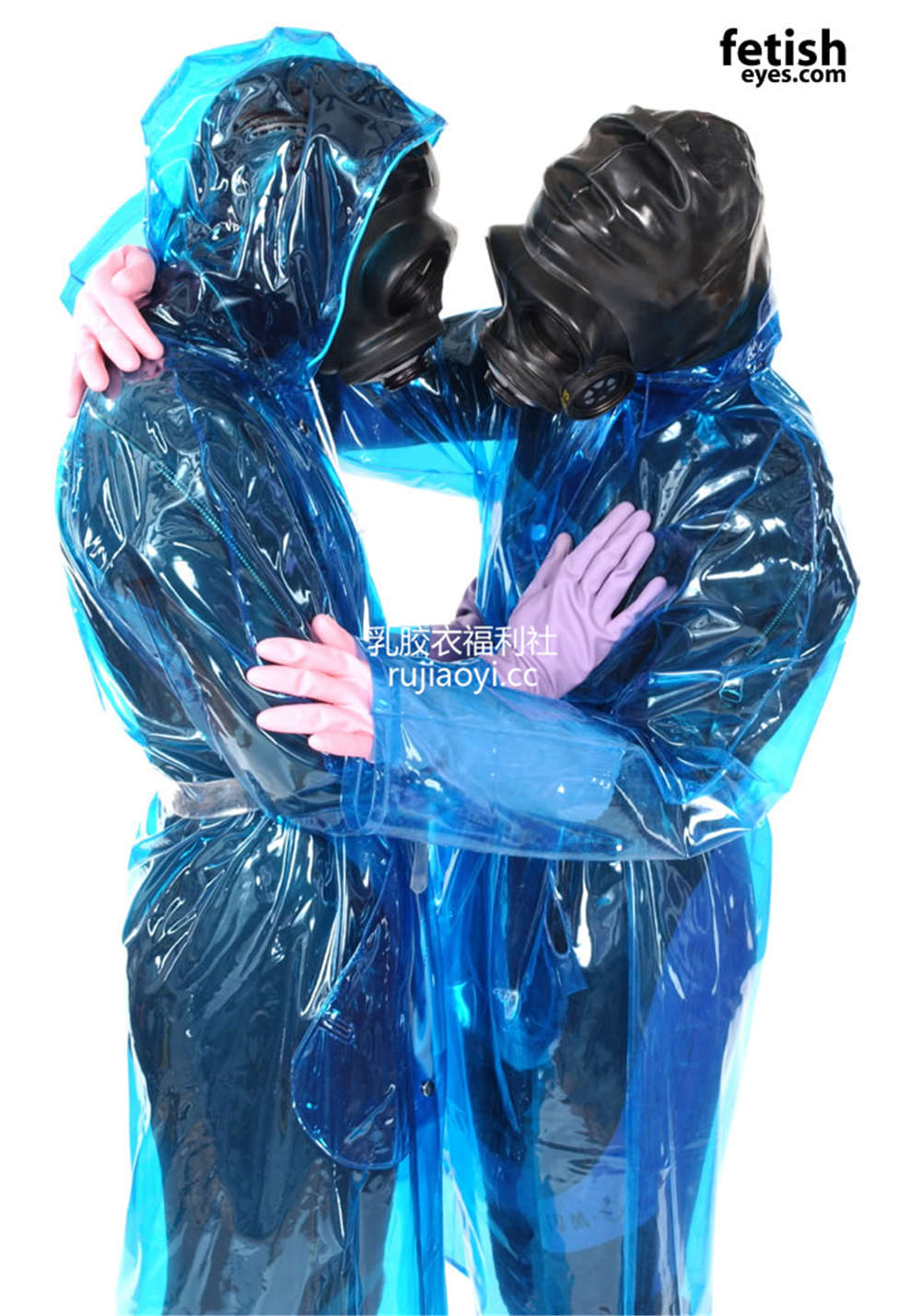 [FetishEyes] 防毒面具乳胶衣搭配PVC外套 [30P/4M]