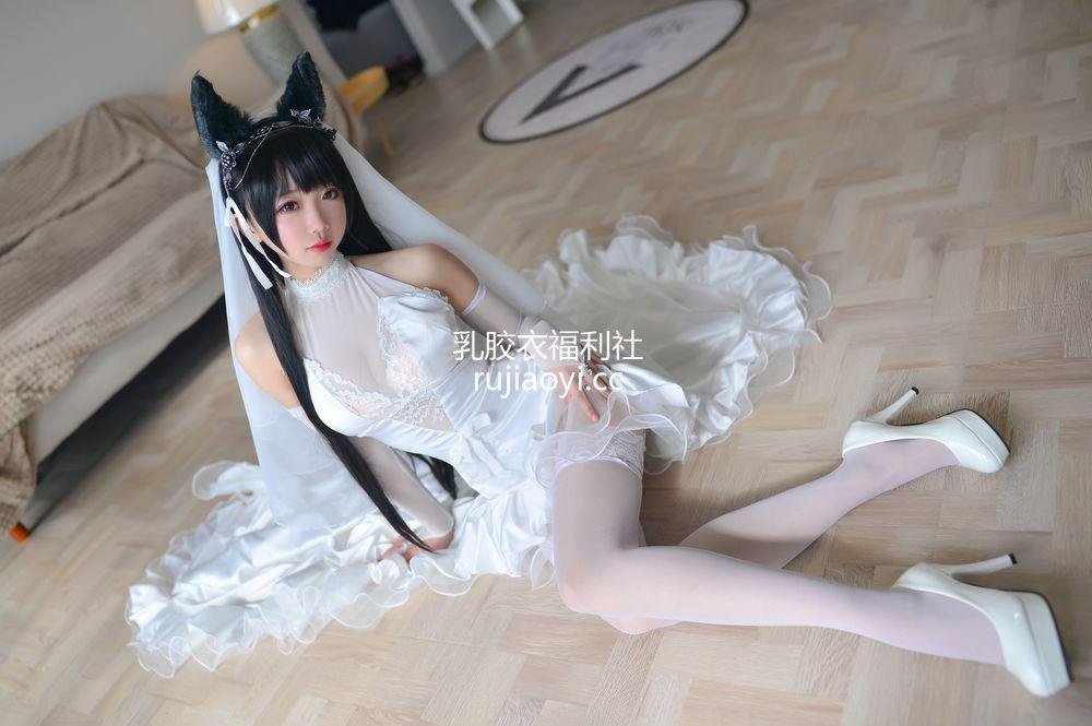 [网红杂图] 雪琪 - 爱宕婚纱 [38P366M]