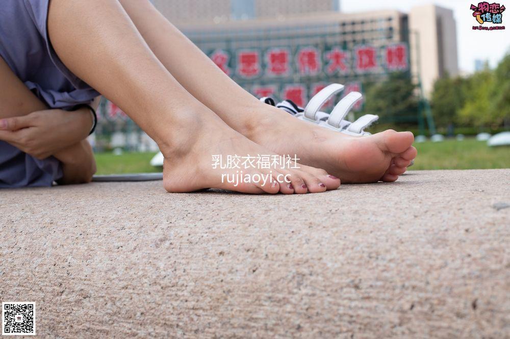 [物恋传媒] No.043 湛蓝连衣裙搭配板鞋船袜,知性混搭自然美,耐克板鞋搭配白色船袜 [187P1V1.28G]