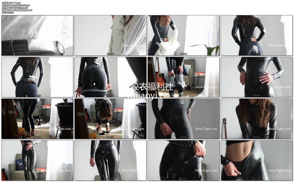 [永V专享-独家精品乳胶衣视频] 妹子脱下牛仔裤里面是乳胶衣-720P高清视频 [1V238M]