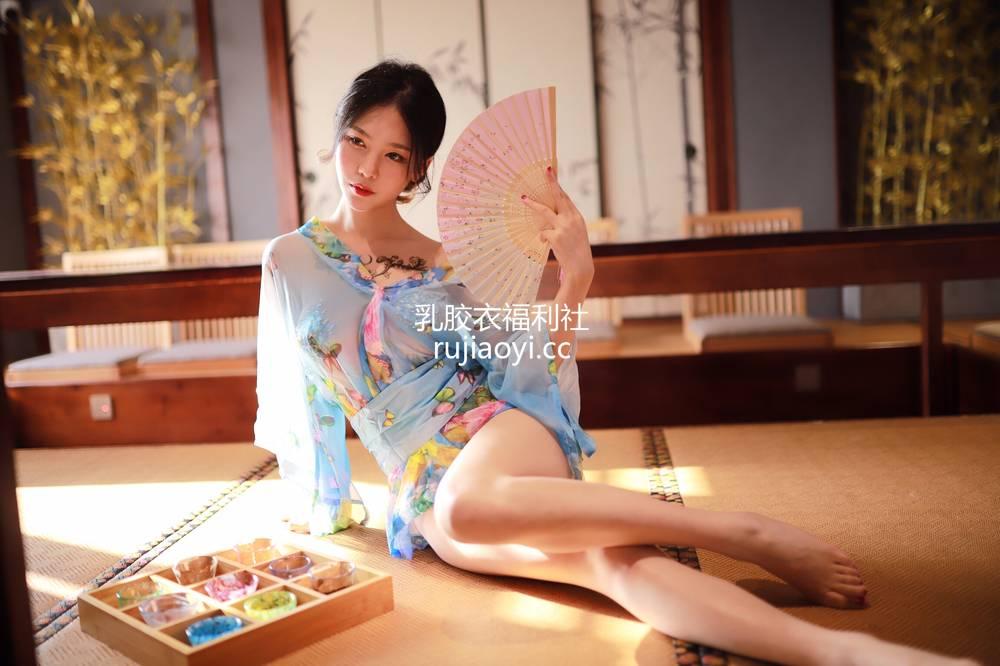 [网红杂图] 抖娘-利世 - 水蓝和服 [30P43M]