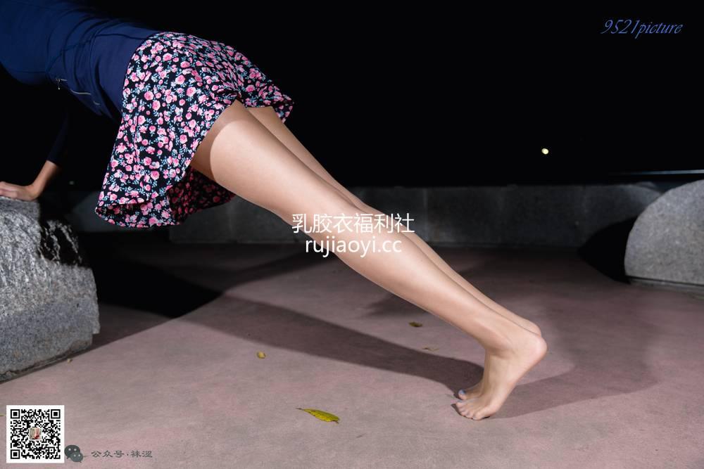[袜涩] NO.058 碎花肉丝短裙夜跑 [20P338M]