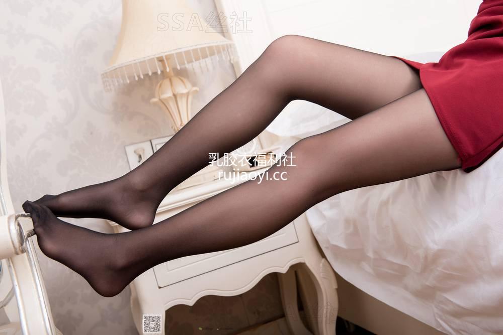 [SSA丝社] NO.064 西西酒红色短裙黑丝裸足 [99P93M]