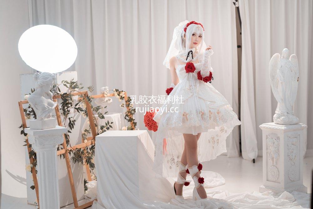 [网红杂图] 面饼仙儿 - 德丽莎婚纱 [13P92MB]