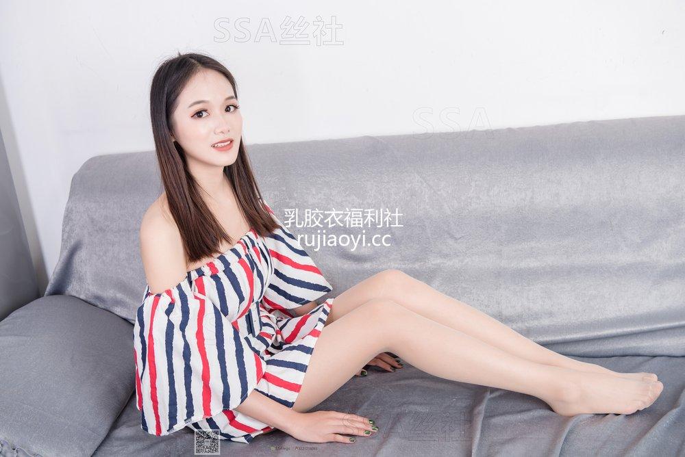 [SSA丝社] 超清写真 No.048 兰兰沙发上的格子裙 [122P1.75GB]