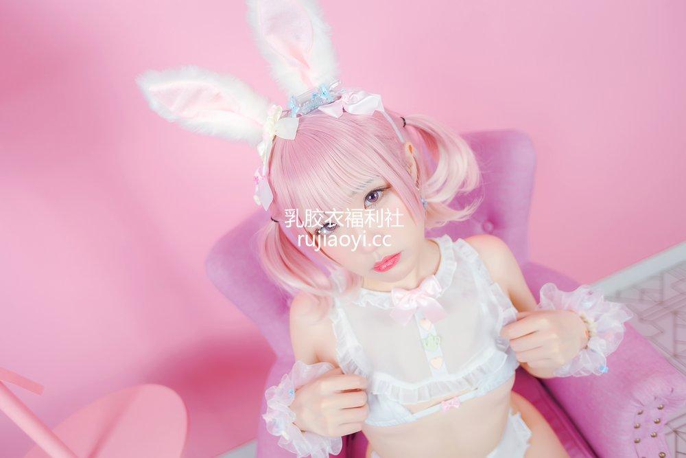 [网红杂图] Mime弥美 - 白粉色兔女郎 [30P201MB]